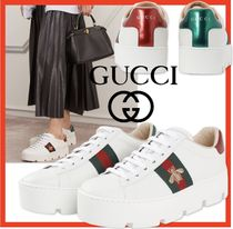 関税負担☆人気【GUCCI】☆Ace embroidered platform sneaker☆