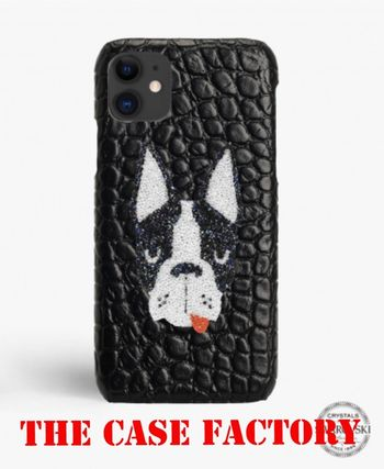 THE CASE FACTORY スマホケース・テックアクセサリー The Case Factory iPHONE 11 PRO MAX SWAROVSKI DOGクロコダイル