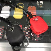 PRADA Fabric mini pouch with mobile holder