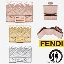 [FENDI] マイクロ 三つ折り バゲット 財布 with Limited Color☆