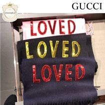 SALE★GUCCI★あったか可愛いLOVEDマフラー★国内発送★関税込