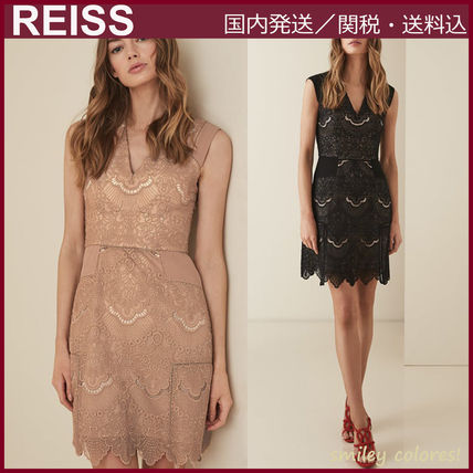 【☆REISS☆】GEMINA LACE FIT AND FLARE DRESS