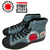 Vision Street Wear(ビジョン ストリート ウェア ) スニーカー Vision Street wear Hi Denim x Red Hot Chili Peppers レッチリ