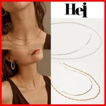 Hei(ヘイ) ネックレス・ペンダント 人気☆人気【Hei】☆Two Lines Chain Necklace☆2色☆ネックレス