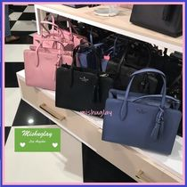 【kate spade】タッセル付★rowe medium top zip satchel★2way