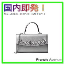 国内即発! Michael Kors AVA Jewlled Phone Crossbody シルバー