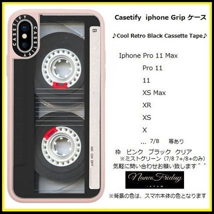 Casetify スマホケース・テックアクセサリー Casetify iphone Gripケース♪Cool Retro Black Cassette Tape♪