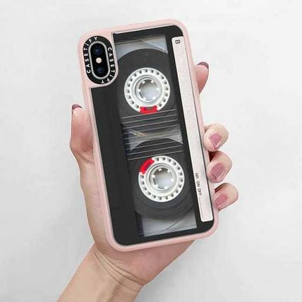 Casetify スマホケース・テックアクセサリー Casetify iphone Gripケース♪Cool Retro Black Cassette Tape♪(5)