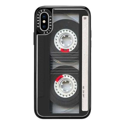 Casetify スマホケース・テックアクセサリー Casetify iphone Gripケース♪Cool Retro Black Cassette Tape♪(6)