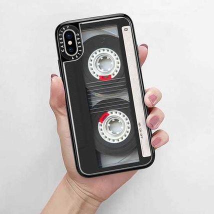 Casetify スマホケース・テックアクセサリー Casetify iphone Gripケース♪Cool Retro Black Cassette Tape♪(9)