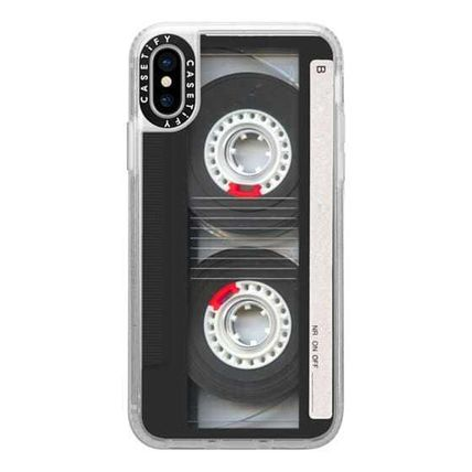 Casetify スマホケース・テックアクセサリー Casetify iphone Gripケース♪Cool Retro Black Cassette Tape♪(10)