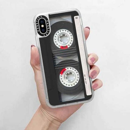 Casetify スマホケース・テックアクセサリー Casetify iphone Gripケース♪Cool Retro Black Cassette Tape♪(13)