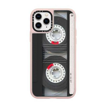 Casetify スマホケース・テックアクセサリー Casetify iphone Gripケース♪Cool Retro Black Cassette Tape♪(14)