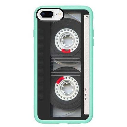 Casetify スマホケース・テックアクセサリー Casetify iphone Gripケース♪Cool Retro Black Cassette Tape♪(15)