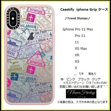 Casetify スマホケース・テックアクセサリー Casetify iphone Gripケース♪Travel Stamps♪