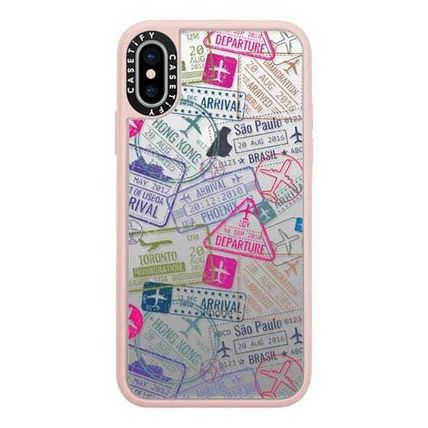Casetify スマホケース・テックアクセサリー Casetify iphone Gripケース♪Travel Stamps♪(2)