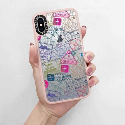 Casetify スマホケース・テックアクセサリー Casetify iphone Gripケース♪Travel Stamps♪(5)