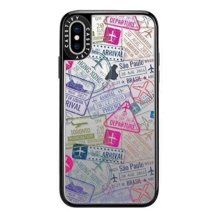 Casetify スマホケース・テックアクセサリー Casetify iphone Gripケース♪Travel Stamps♪(6)