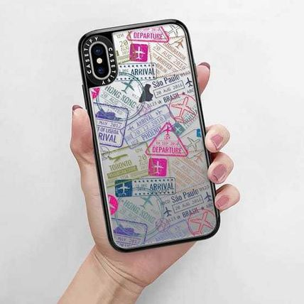 Casetify スマホケース・テックアクセサリー Casetify iphone Gripケース♪Travel Stamps♪(9)