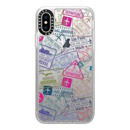 Casetify スマホケース・テックアクセサリー Casetify iphone Gripケース♪Travel Stamps♪(10)