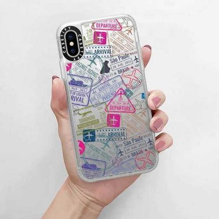 Casetify スマホケース・テックアクセサリー Casetify iphone Gripケース♪Travel Stamps♪(13)