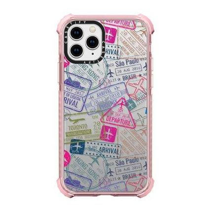 Casetify スマホケース・テックアクセサリー Casetify iphone Gripケース♪Travel Stamps♪(14)