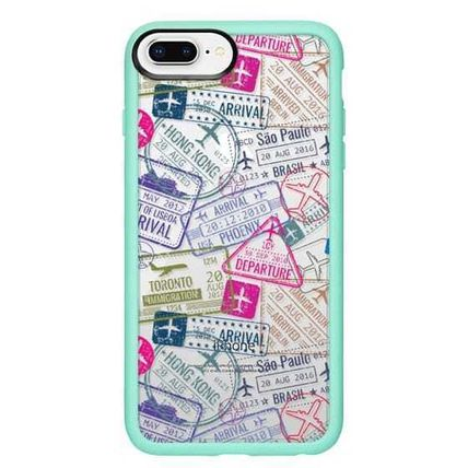 Casetify スマホケース・テックアクセサリー Casetify iphone Gripケース♪Travel Stamps♪(15)
