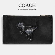 【COACH】完売目前!●Zip Card Case With Rexy●レキシー/black