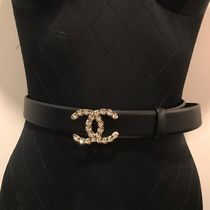 2020 CRUISE CHANEL★CC BELT in Black with GH