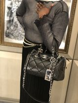 ★2020 CRUISE CHANEL 最新作★BOWLING BAG in Black