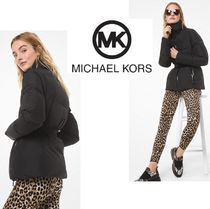 MICHAEL KORS Quilted Cire Belted Puffer Jacket ベルト付