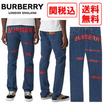 関税・送料込 Burberry Straight Fit Horseferry Print ジーンズ