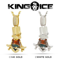 【King Ice】Simpsons x King Ice - Skater Bart Necklace