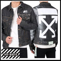 (オフホワイト)OFF-WHITE ARROWS DENIM JACKET OMYE005F19F05044