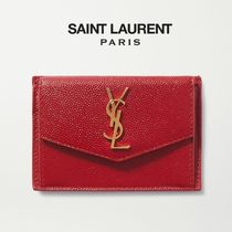 ∞∞ Saint Laurent ∞∞ Uptown textured-leather カードケース