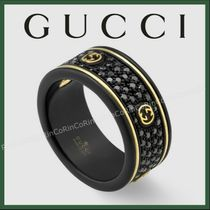 入手困難★Icon ring with Interlocking G and diamonds