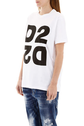 D SQUARED2 Tシャツ・カットソー Dsquared2 maxi d2 print t-shirt(5)