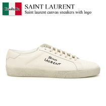 Saint laurent canvas sneakers with logo