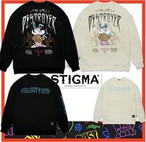 【STIGMA】★RABBIT GANG OVERSIZED HEAVY SWEAT CREWNECK★2色