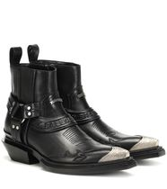 Santiag Harness leather ankle boots アンクルブーツ