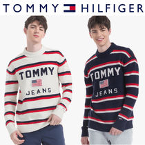 Tommy Hilfiger正規品★Oversize Tommy Stripe Sweater (2色)