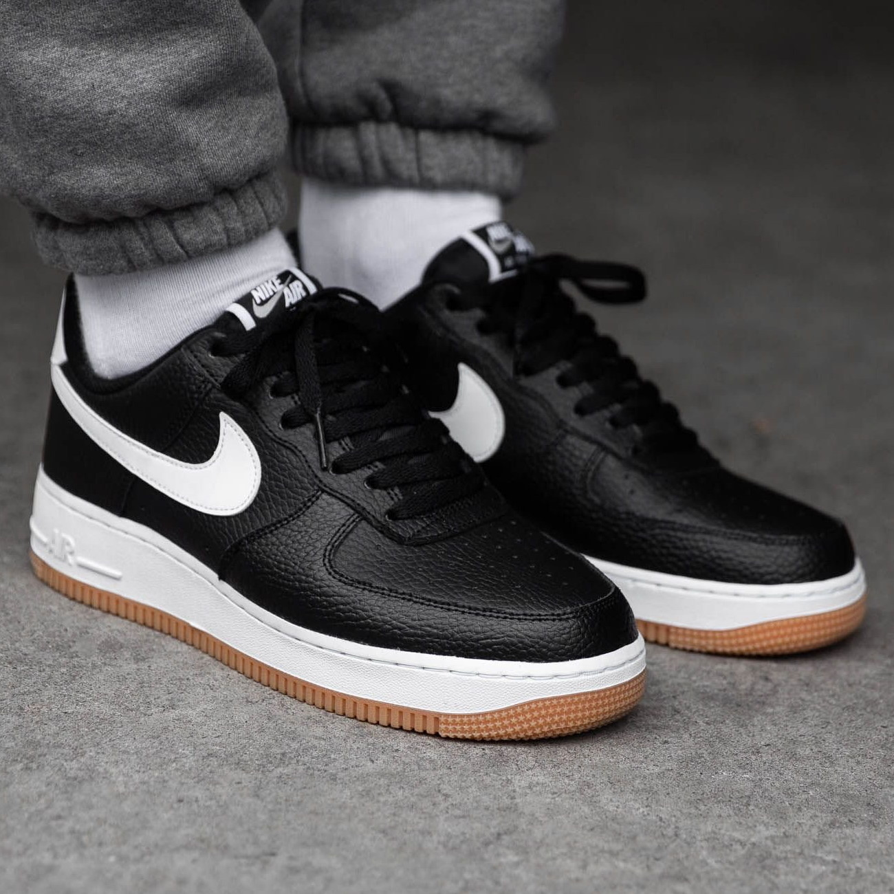 Nike AIR FORCE 1 2019 20AW Street Style Plain Leather Sneakers (CI0057 002)