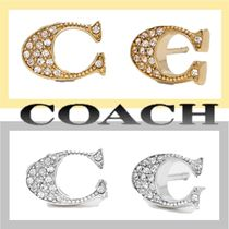 Coach☆Signature ロゴ レディース ピアス☆送料・関税込み