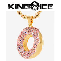 【King Ice】Odd Future OF Donut Pendant Gold Necklace