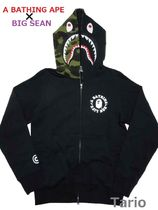 A BATHING APE(アベイシングエイプ) パーカー・フーディ 送料込!【A BATHING APE x BIG SEAN】 SHARK FULL ZIP HOODIE L