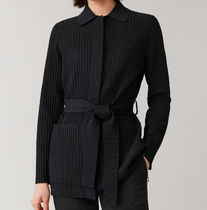 """""""COS"""" RIBBED BELTED CARDIGAN BLACK"""