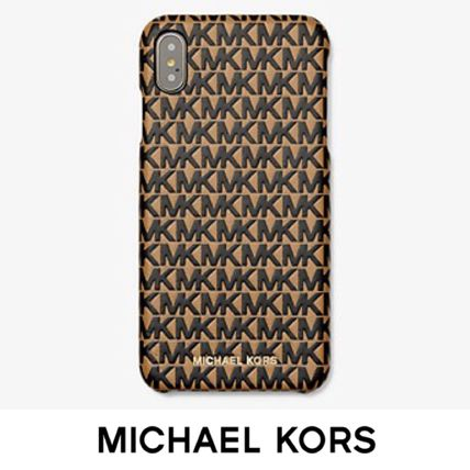 Michael Kors スマホケース・テックアクセサリー 【国内発送】マイケルコース Leather Phone Cover iPhone XS Max