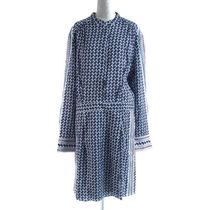 REISS::AIDY ペイズリー シャツワンピ ブルー:UK14[RESALE]