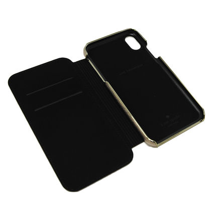 kate spade new york スマホケース・テックアクセサリー 即納*kate spade*SAFFIANO INLAY WRAP FOLIO CASE FOR IPHONE XR(4)