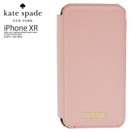kate spade new york スマホケース・テックアクセサリー 即納*kate spade*SAFFIANO INLAY WRAP FOLIO CASE FOR IPHONE XR